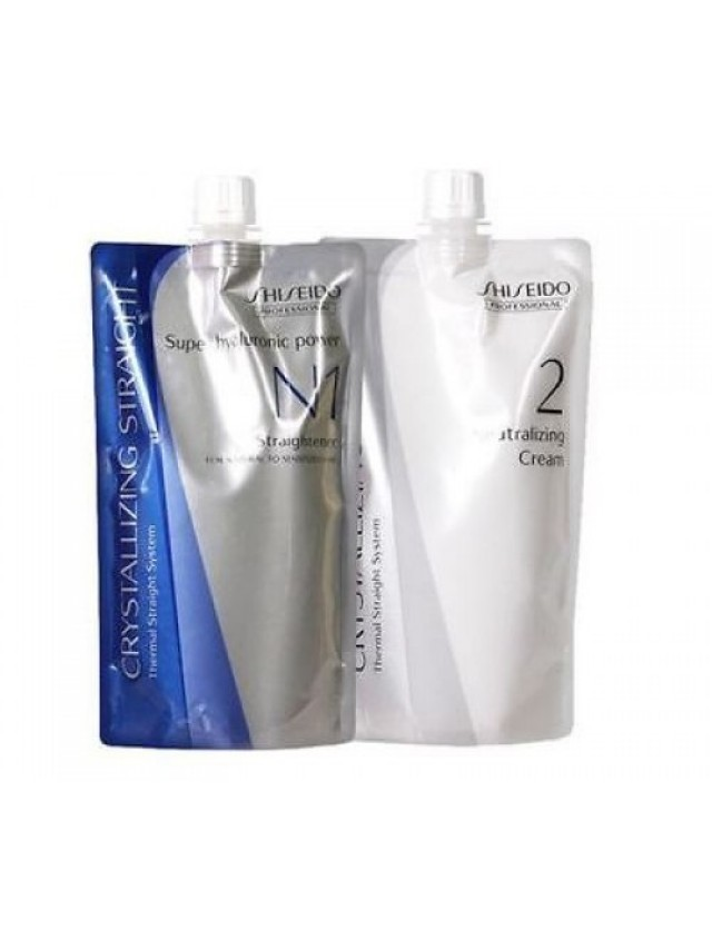 SHISEIDO CRYSTALLIZING STRAIGHTENER N1 + NEUTRALIZER 2 CREAM 2X400G CC