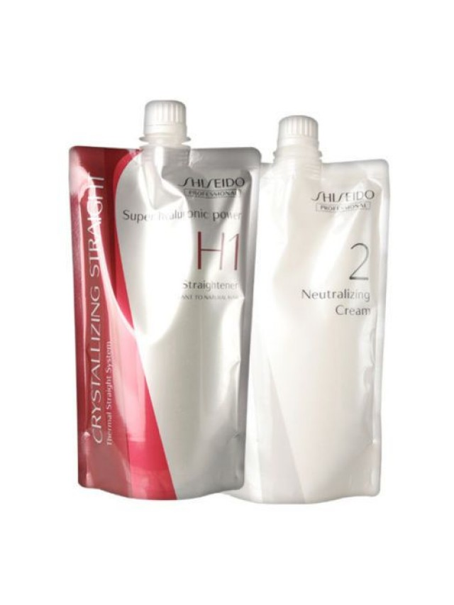 SHISEIDO CRYSTALLIZING STRAIGHTENER H1 + NEUTRALIZER 2 CREAM 2X400G CC