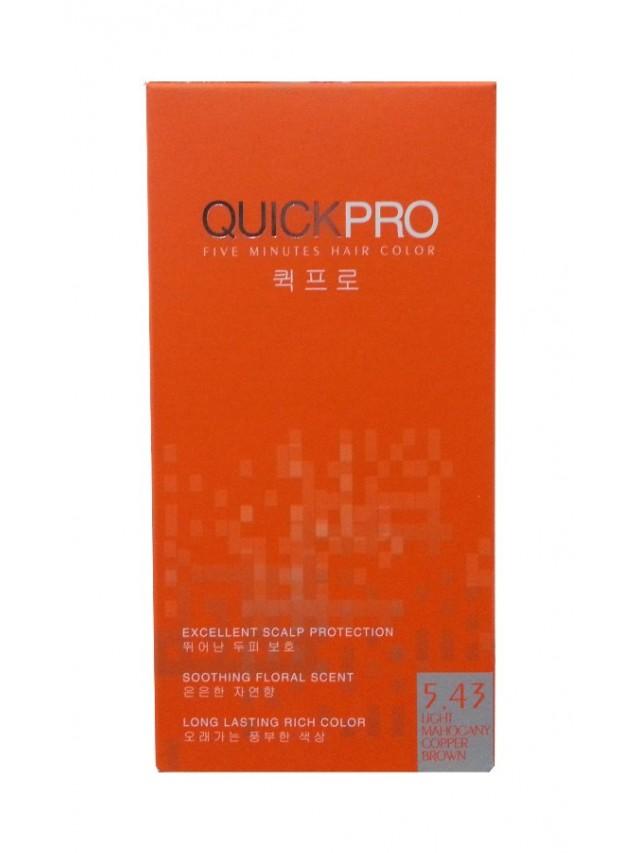 QUICKPRO HAIR COLOR 5.43 (LIGHT MAHOGANY COPPER BROWN) 2X40G CC